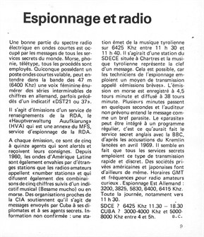 """Espionnage et radio"" article in Interférences #3 (Fall 1975)"